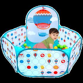 费雪儿童海洋球球池 宝宝室内游乐场投篮玩具游戏屋 球池围栏套装