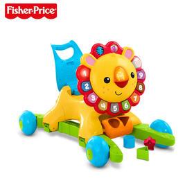 费雪学步车 4合1多功能学步车摇摇小狮子手推车婴儿益智玩具DLW65