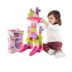 费雪美高 积木大颗粒 80粒儿童益智宝宝玩具拼装塑料大块袋装