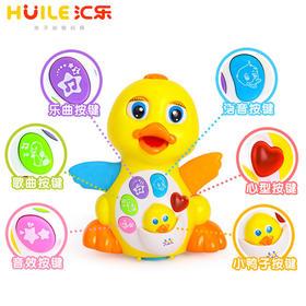 汇乐大黄鸭 婴幼儿音乐电动万向摇摆玩具 儿童益智动物玩具1-3岁