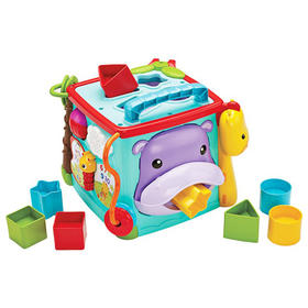 费雪六面盒 儿童早教益智玩具多功能婴儿玩具台cmy28正品探索礼盒