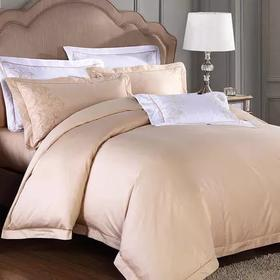 康尔馨酒店床上用品四件套全棉60支贡缎纯棉被套简约双人1.8m床品