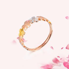 娇妍 18K玫瑰金(三色)戒指