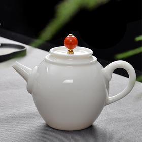 永利汇 羊脂玉白瓷小茶壶孟起壶陶瓷功夫单壶茶具创意过滤泡茶器