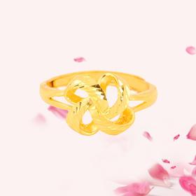 爱之结 精品活口足金戒指