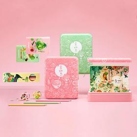 食物恋手帐套装 文艺创意手账 记录那些四季丰盈、日食三餐的日子