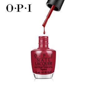 OPI复古红色系指甲油环保持久防水
