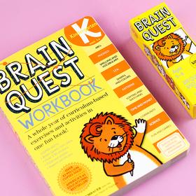 【2-7岁】美国教育类霸榜畅销书、美国小学课外作业!《Brain Quest》英文原版问答卡、练习册套装,正版英文智力开发问答卡,好玩便携!内容丰富、有趣,越玩越聪明!