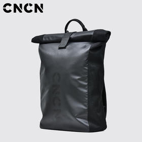 CNCN男装 青年男士休闲双肩背包 黑色时尚男士挎包CNCE33601