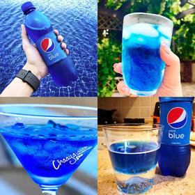 巴厘岛限定,蓝色的可乐,pepsi blue梅子味