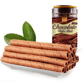 大罐装 巧克力香脆卷300g