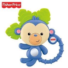 费雪--小猴子牙胶磨牙缤纷动物摇铃