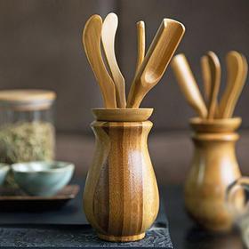 竹制茶道六君子茶具配件套装 家用实木功夫茶茶艺零配组合