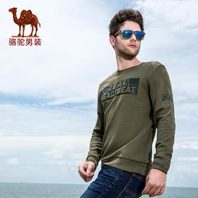 【领券买 更划算】骆驼牌 秋季新款圆领男士卫衣宽松舒适男长袖时尚印花男长袖FQ7355123