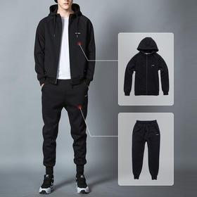 爵士     春秋运动套装男士跑步运动服休闲两件套秋季