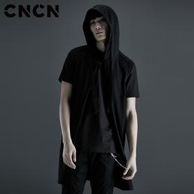 CNCN男装 秋季新品男士连帽背心 个性潮流百搭马甲 CNCB39002