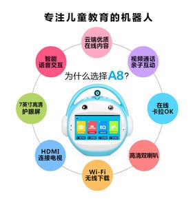 名校堂A8云博士机器人无线WIFI带话筒,蓝,粉,绿可选