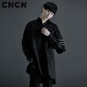 CNCN男装 秋季新款宽松中长裤长袖衬衫 男士潮牌衬衣CNCC39026