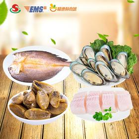 【优选生鲜】广食品牌进口海鲜518型礼券