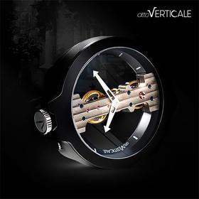 atto VERTICALE独特垂直机械表芯的蓝宝石透视腕表