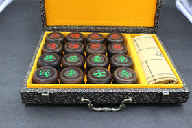 老挝大红酸枝象棋木雕送皮革象棋4.8送礼国际象棋红木家具