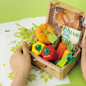 【乐活之选】创意蔬菜手工折纸包|升级款|让宝宝爱上蔬菜