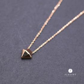 18K玫瑰金钻石切面套链