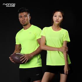 跑步指南102圆领短袖速干T恤  - 男女情侣款,经典款式