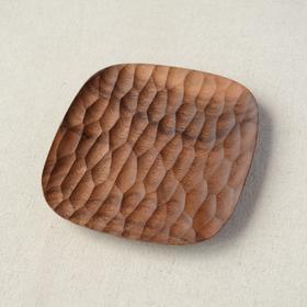 实木刻痕小盘子