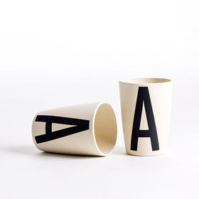 Since系列竹纤维字母水杯