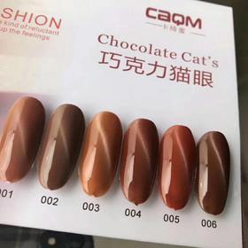美博会新品 卡绮蜜巧克力猫眼 6色套装18ml/瓶赠送展板和加厚吸铁石