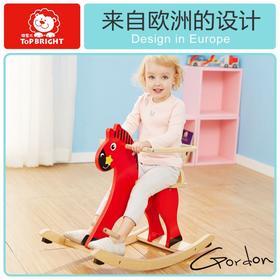宝宝摇椅马木制两用摇摇马儿童玩具1-2周岁礼物小木马车礼物