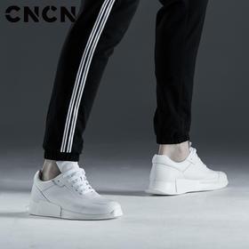 CNCN男装 2017夏季新款男潮流白色运动鞋牛皮时尚休闲鞋CNCP33306
