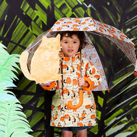 韩国 HAS 可爱卡通儿童长柄伞,伞面部分透明可视,多款可选