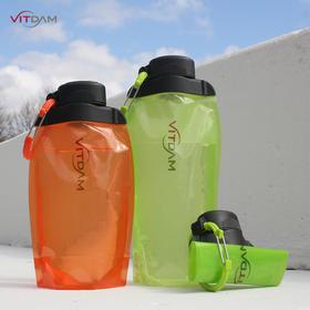 进口 VITDAM 出行可折叠携带水袋 健身对人体无害儿童运动多色