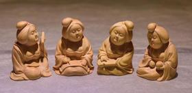 黄杨木雕摆件唐朝美女案头送礼文玩工艺品玩件精品茶宠