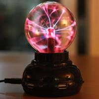 Plasma闪电电浆球,放在桌上还带USB hub功能