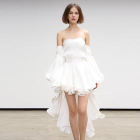 SYUSYUHAN 设计师秀场系列光泽亮丝六米燕尾大摆浪漫女神压轴半裙