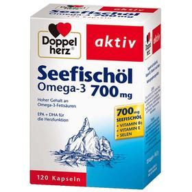 德国双心Doppelherz Omega3深海鱼油700mg 调血脂 120粒