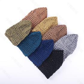 儿童帽,手工钉珠网帽,有弹性老少皆宜。