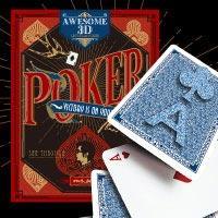 玩个魔术:3D透视扑克牌,你能看出数字吗?