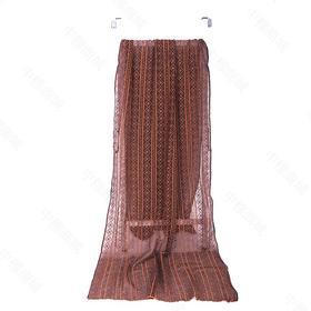高档真丝绣花长巾 | 纯简、舒适, 气质实足。