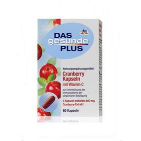 国dm健康加号蔓越莓维C胶囊保护女性泌尿系统健康60粒