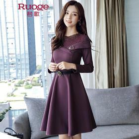 蕾丝收腰连衣裙  YM8932