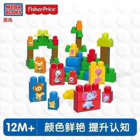 Mega美高大颗粒积木动物学习套装 入门拼搭 积木玩具DPY43