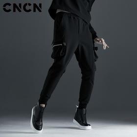 CNCN男装 青年潮牌休闲裤 口袋拉链束脚裤CNCK39053