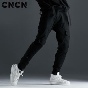 CNCN男装 秋季男士修身束脚裤 青年口袋工装裤休闲裤CNCK39022
