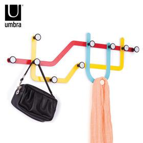加拿大umbra地铁线挂钩创意衣帽钩墙壁挂衣架多功能墙上置物架
