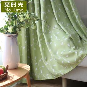 【蔓叶】丝绒麻绣花遮光 绿/蓝/白
