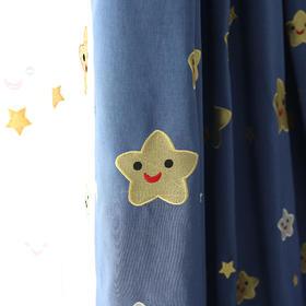 【微笑星】竹节棉遮光绣花窗帘 儿童卡通房